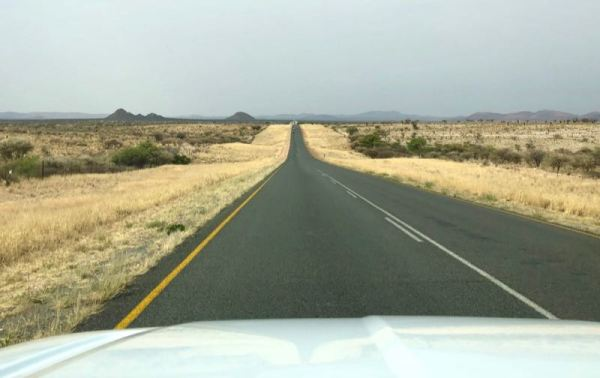 The long straight road, Namibia