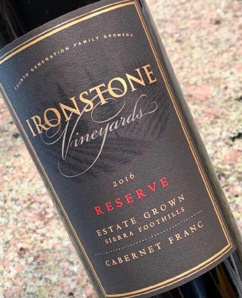 2016 Ironstone Vineyards Reserve Cabernet Franc, Sierra Foothills
