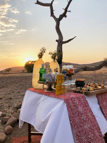 Sundowner at Desert Rhino Camp