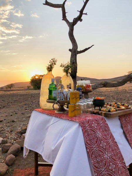 Sundowner at Desert Rhino Camp