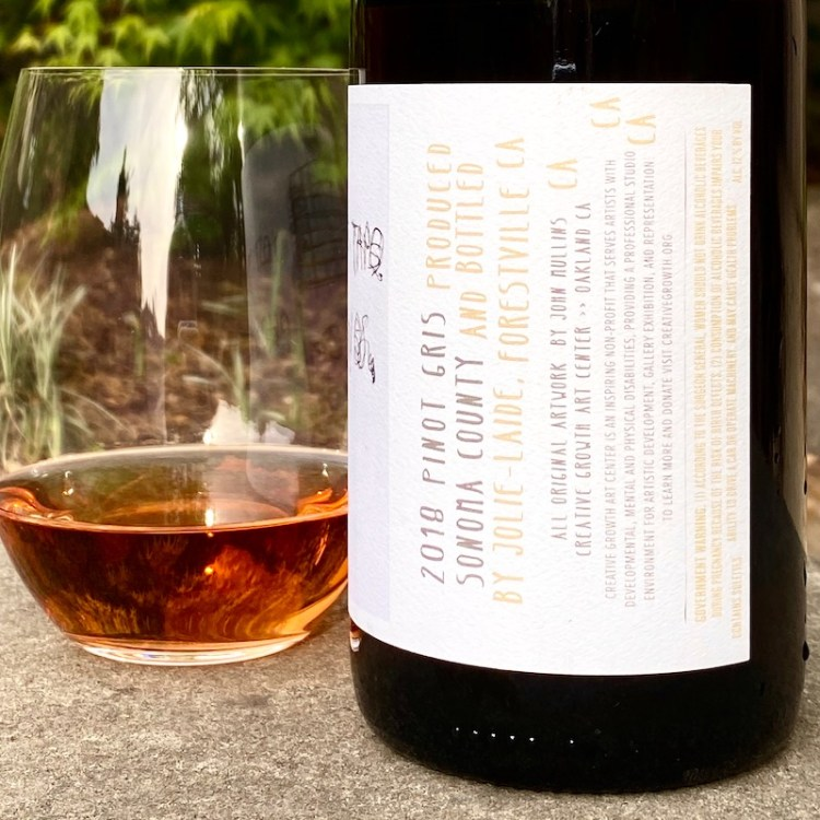 2018 Jolie-Laide Pinot Gris, Sonoma County label detail photo