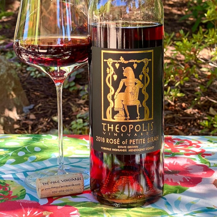 2018 Theopolis Vineyards Rosé of Petite Sirah, Yorkville Highlands, Mendocino County photo