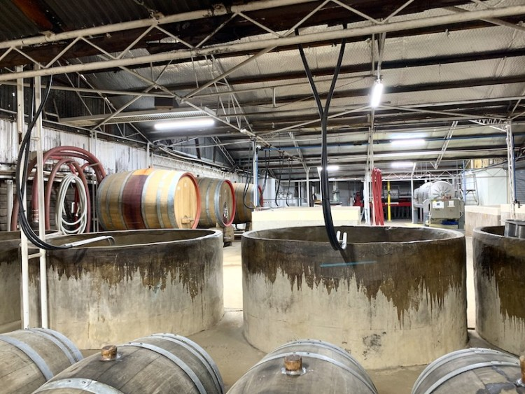 Fermenters and barrels in the old Tyrrell's winery photo