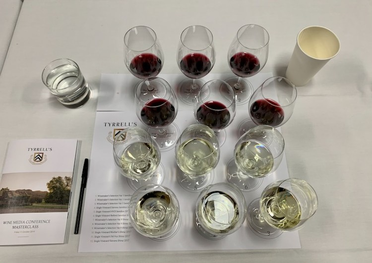 Semillon and Shiraz tasting at Tyrrell's Wines