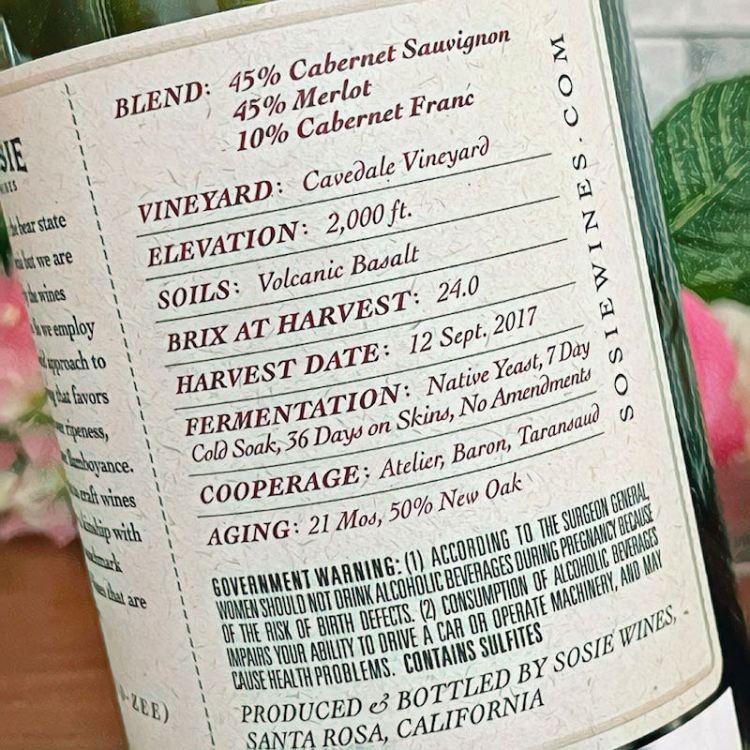 Sosie Wines Red Blend label photo