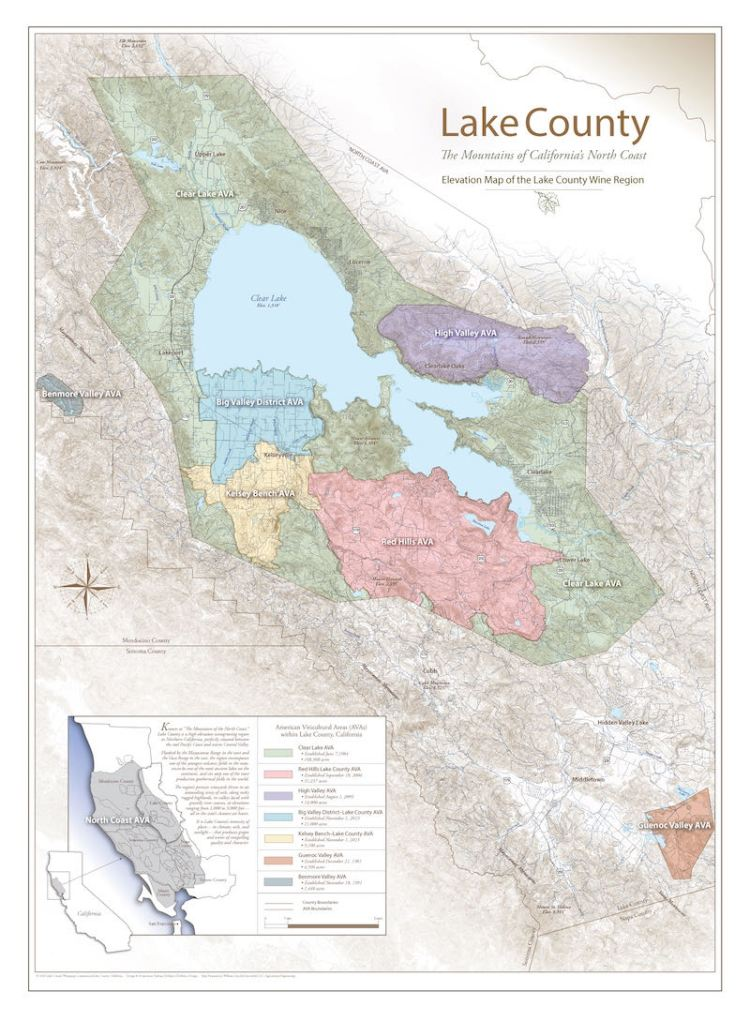 Lake County AVA map photo