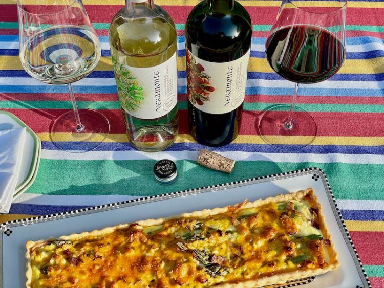 Veramonte wines paired with asparagus tart photo