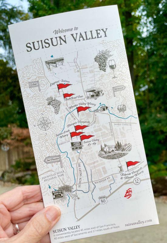 Suisun Valley Wineries map photo