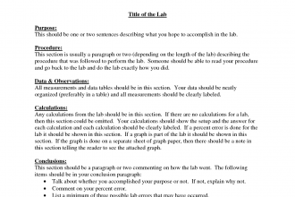 formal lab report template 7 formal lab report template. lab ...