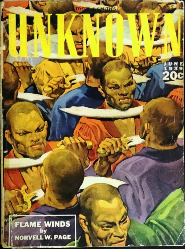 Unknown Vol. 1, No. 4 (June, 1939).  Cover Art by H. W. Scott