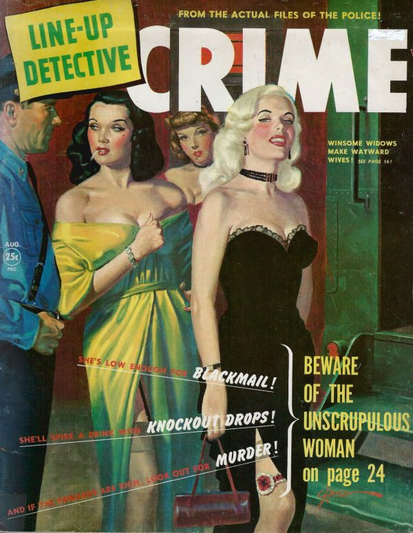 Line Up Detective August 1951