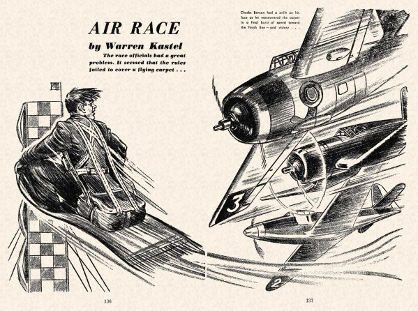 FA 1948-07 - 136-137 Air Race - (illo.) William A. Gray
