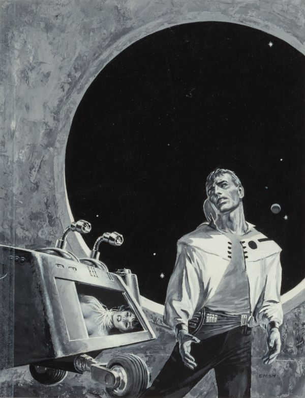 Five Galaxy Short Novels, dust jacket art, 1958