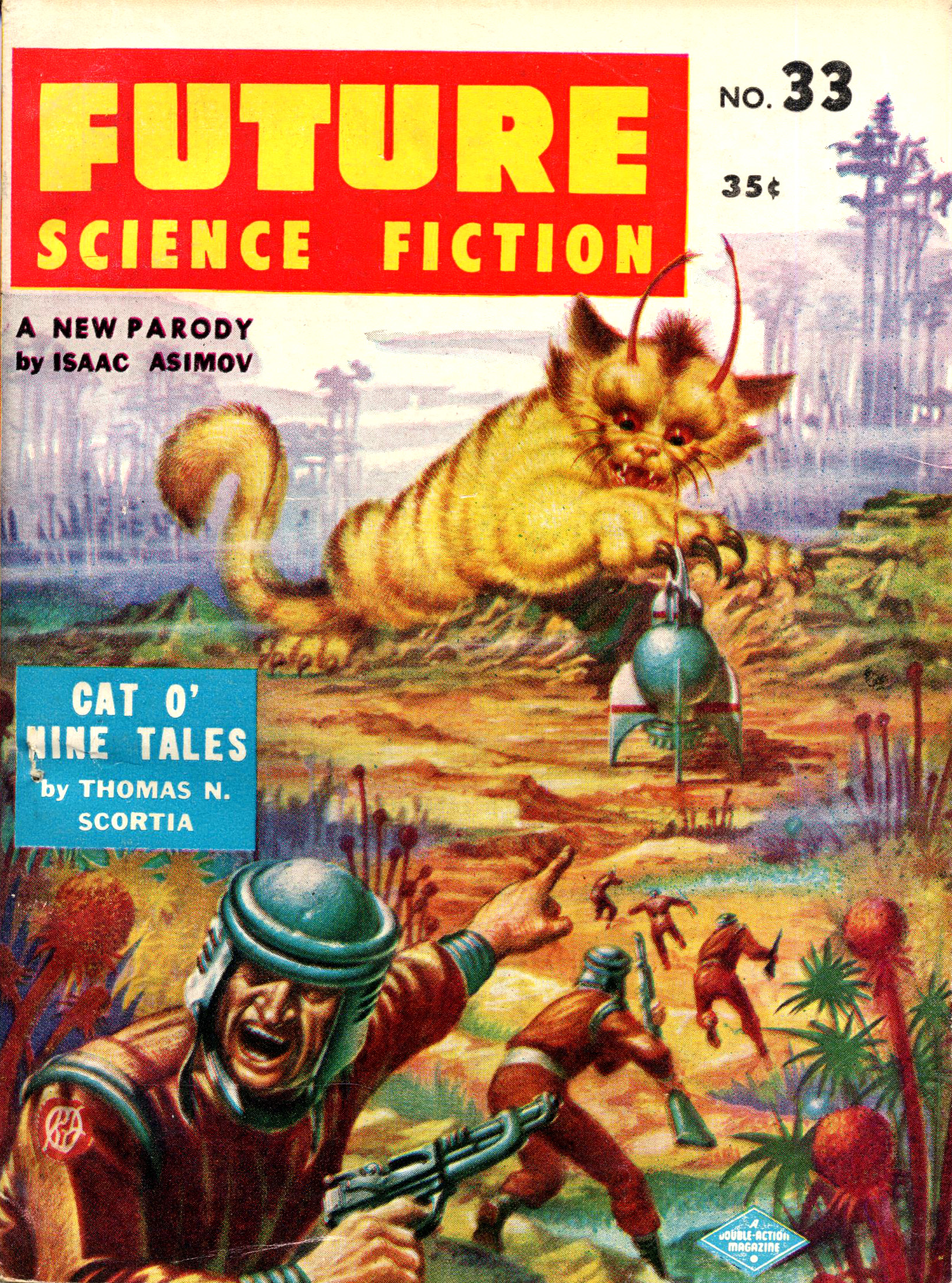 Cat O Nine Tales Pulp Covers