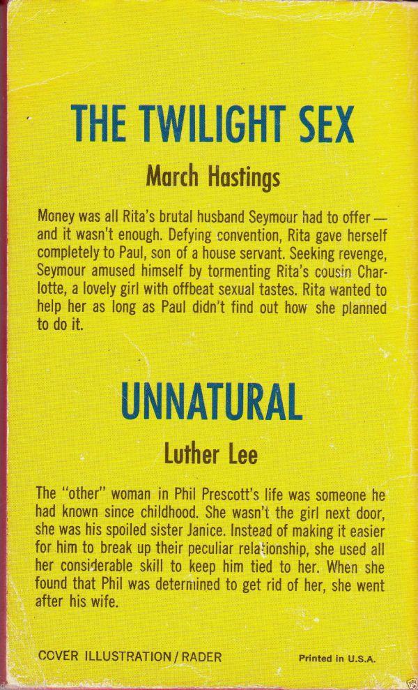 Midwood Double Novel No. 35-920 1968 Back