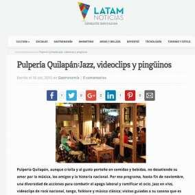 """<span class=""""live-editor-title live-editor-title-20790"""" data-post-id=""""20790"""" data-post-date=""""2015-10-16 15:13:01"""">Pulpería Quilapán: Jazz en el Morocco, videoclips y pingüinos por Latam Noticias</span>"""
