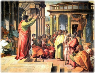 Saint Paul Preaching At Athens, by Raphael
