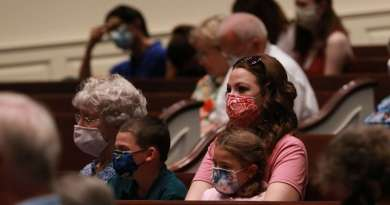 A Gallery Of The Faithful Gathering For Church Amid Pandemic. Album Sixteen