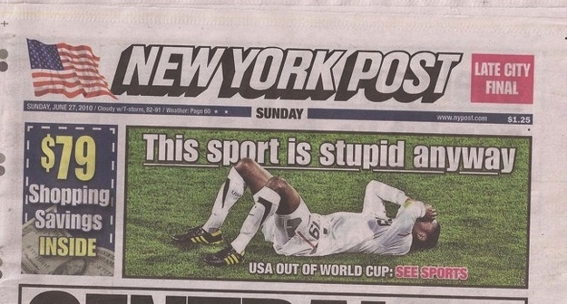 The world's most graceful losers, the New York Post: