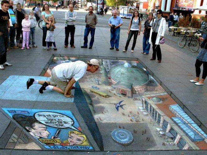 Julian Beever Pavement drawings 2