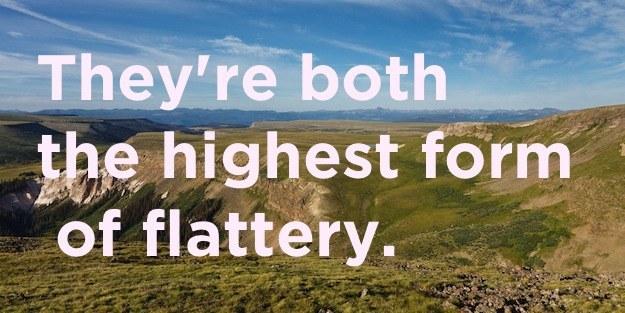 How is imitation like a plateau?