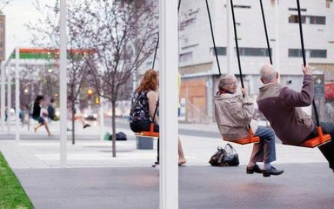 8. The most swingin' bus stop in Canada.