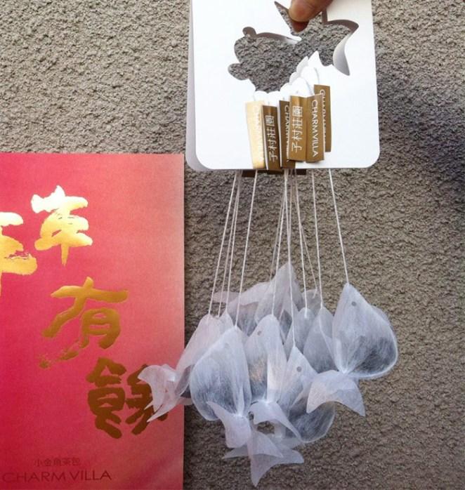 Taiwanese company creates goldfish shaped teabags and for Fish tea bags