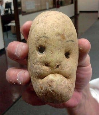 This potato was dug up straight from hell