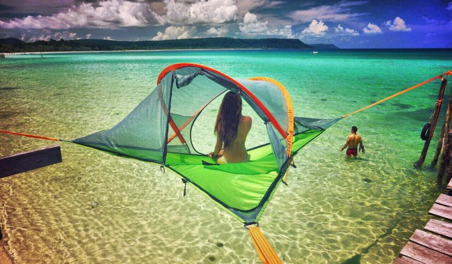 Since Tensile tents and hammocks can be installed anywhere there are sufficient attachments points you can experience nature from new angles. & Sleep In The Trees With These Awesome Tree-House Tents