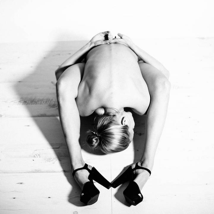 Nude yoga photography are