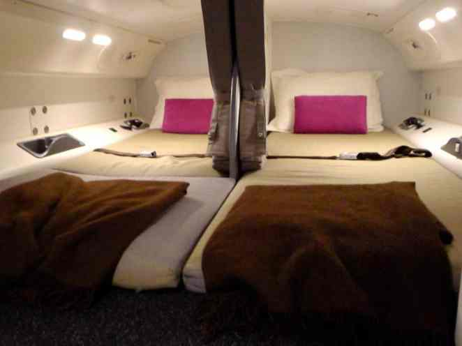See Inside The Secret Airplane Cabin Where The Crew Hang Out