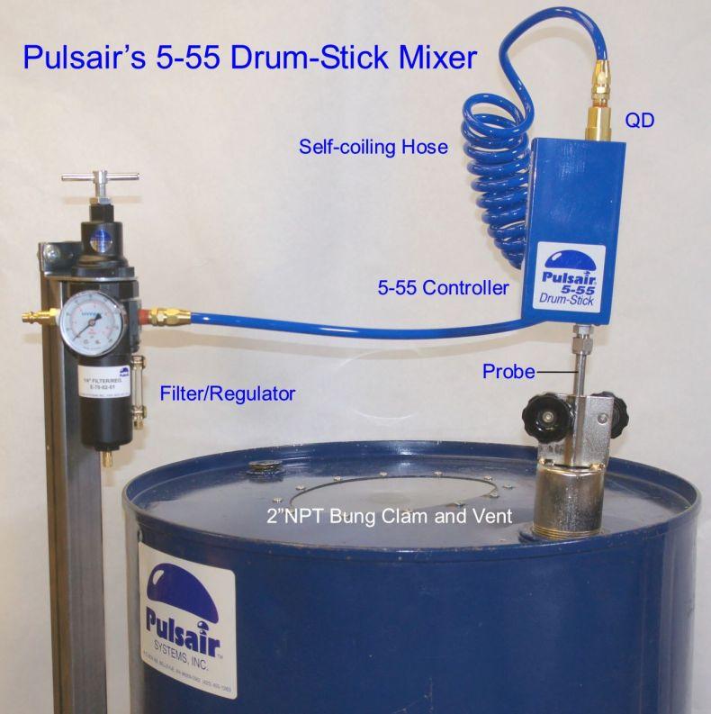 55-gallon drum mixer