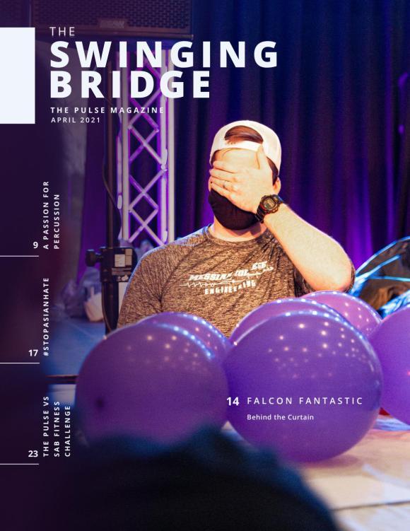 swinging bridge april issue cover