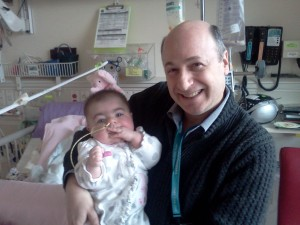 Hannah Campbell with Dr. Lester Permut at Seattle Children's