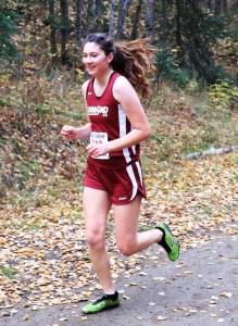 Liesel ran the last race of cross-country season during her senior year of high school.