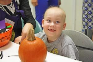 Ciaran Painting Pumpkin 3 Smile