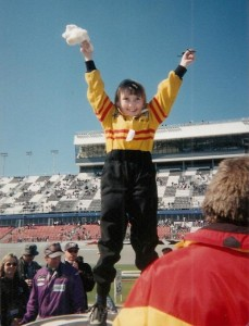Kami on a trip to Daytona with Team Seattle in 2002