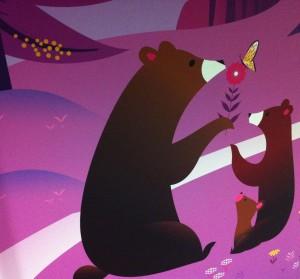 Mountain Zone Mural - Bears