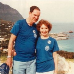 Jack with wife Mary at the Cape of Good Hope in 1984