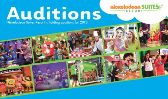 Nickelodeon Suites Resort is Hosting Auditions for 2013