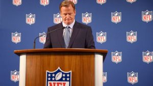 In a press conference at the Hilton Hotel, Goodell admits he mishandled the Ray Rice suspension, courtesy of ABC News.