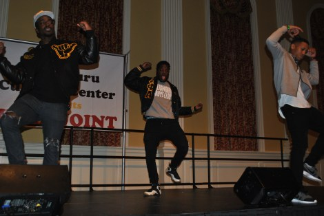 The Iota Zeta Chapter of Alpha Phi Alpha Fraternity, Incorporated stepping. Mya Green/Pulsefeedz Nov. 3