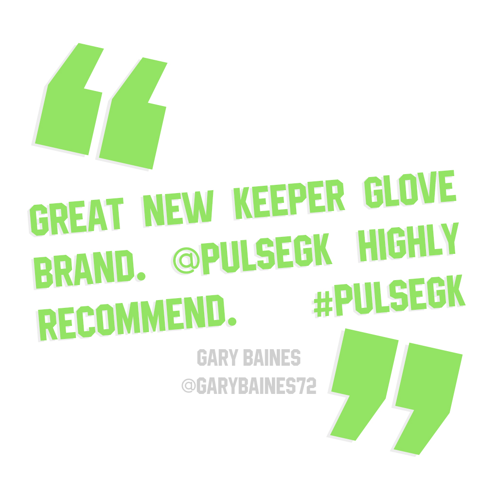 Great new keeper glove brand. @Pulsegk highly recommend. #pulsegk