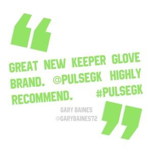 Great new keeper glove brand. @Pulsegk highly recommend. #pulsegk