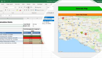 Updated: Microsoft Excel VBA and Google Maps to calculate