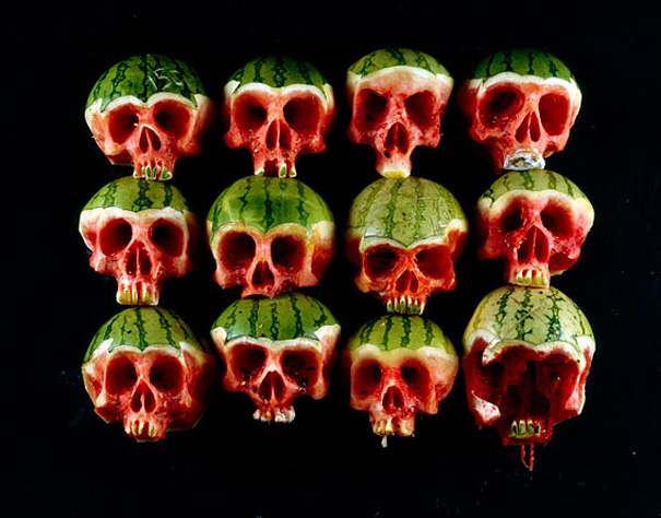 #11 Carved Skull Watermelons