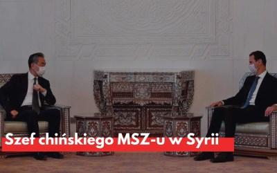 Szef chińskiego MSZ-u w Syrii