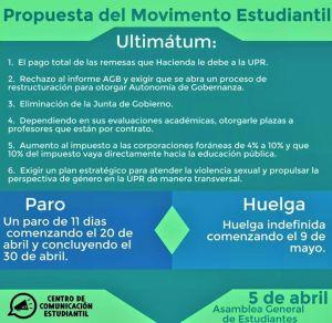 Facebook/Centro de Comunicación Estudiantil