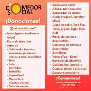 UPR de Ponce busca donaciones para el comedor social