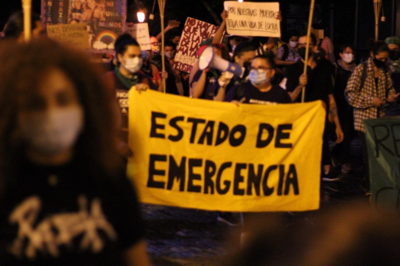 Protestan contra la violencia de género y mujeres desaparecidas